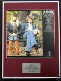 ABBA  - Framed LP Cover - GREATEST HITS